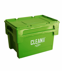 CLEAN BOX mit Deckel und Tauchkorb