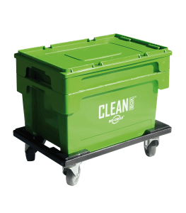 CLEAN BOX m. Deckel, Tauchkorb,Rollwagen