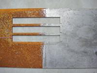 BIO-RUST Rostentferner / Entroster Vergleich vorher - nachher Blech