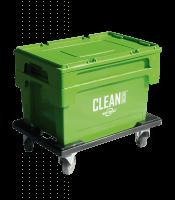 CLEAN BOX m. Deckel, Tauchkorb, Bremsen